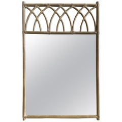 McGuire Midcentury Lacquered Bamboo Mirror