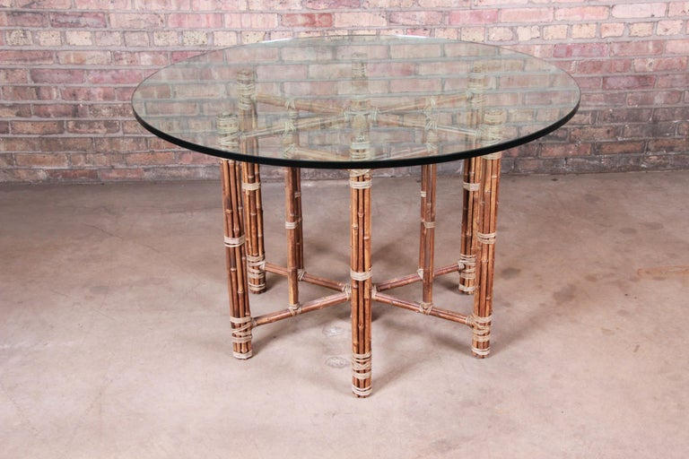 An exceptional midcentury organic modern round dining or center table