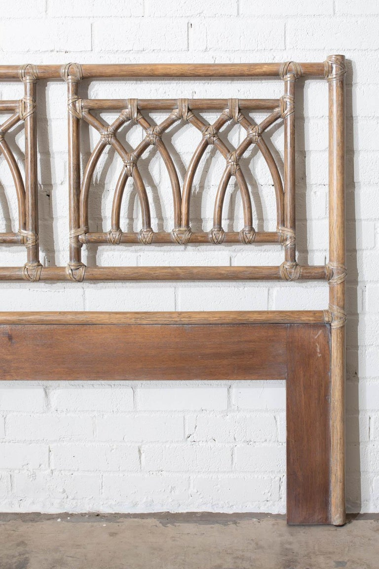 20th Century McGuire Organic Modern Bamboo Rattan Headboard For Sale
