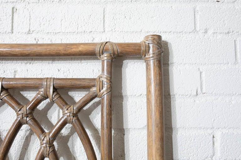 McGuire Organic Modern Bamboo Rattan Headboard For Sale 2