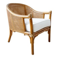 McGuire Organic Modern Caned Rattan Barrel Chair