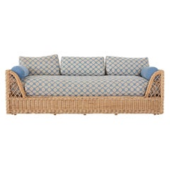 McGuire Organic Modern Rattan and Wicker Daybed Sofa