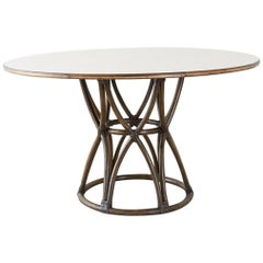 McGuire Organic Modern Round Game or Dining Table