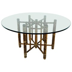 McGuire Rattan and Bamboo Dining Table