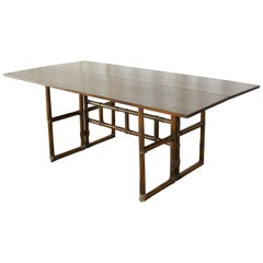 McGuire Rattan Flip-Top Server, Console Table, or Desk