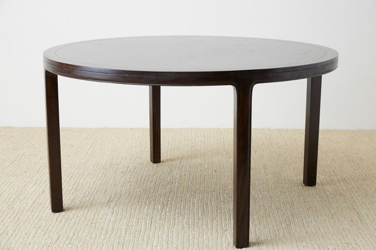 McGuire Round Cerused Oak Dining or Centre Table For Sale 2