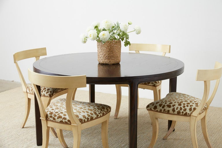 McGuire Round Cerused Oak Dining or Centre Table For Sale 3