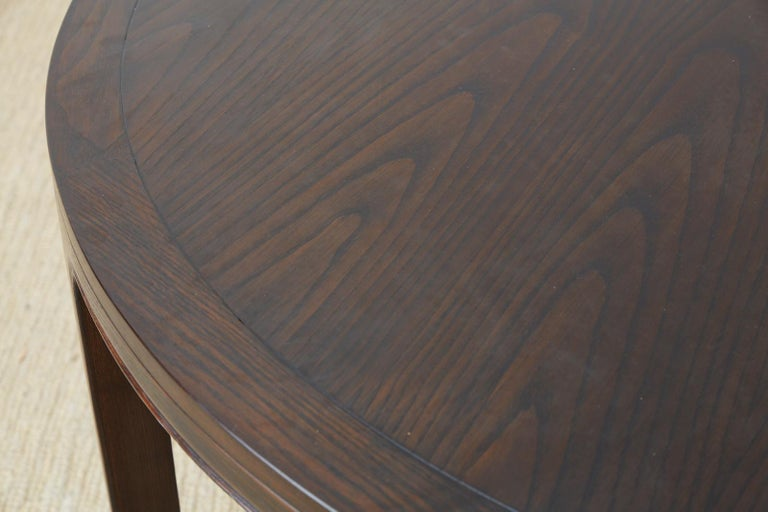 McGuire Round Cerused Oak Dining or Centre Table For Sale 4