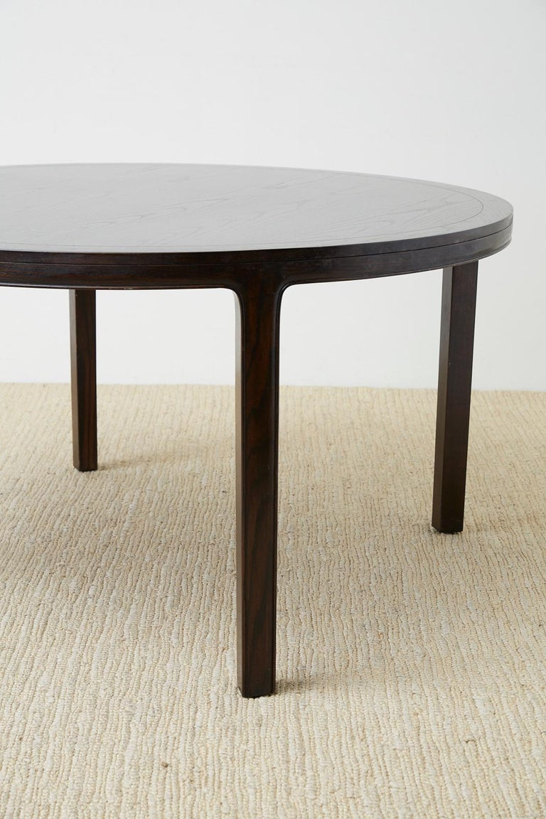 McGuire Round Cerused Oak Dining or Centre Table For Sale 5