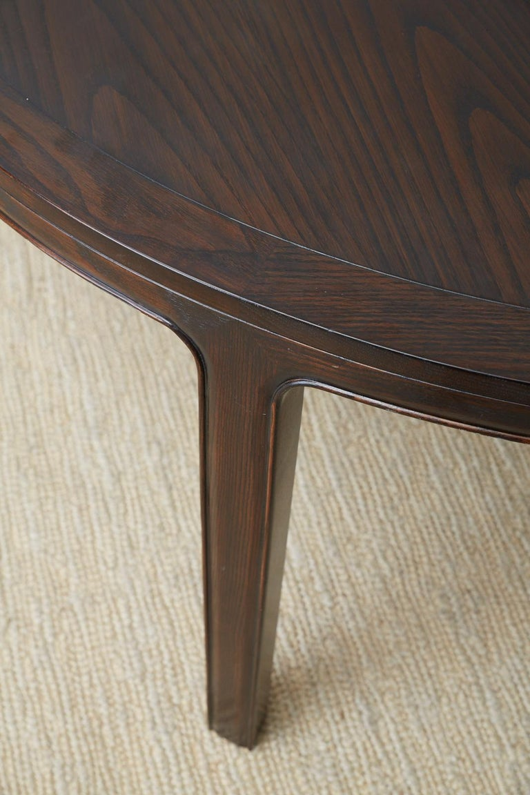 McGuire Round Cerused Oak Dining or Centre Table For Sale 9