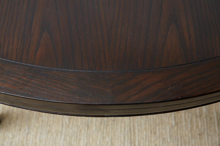 McGuire Round Cerused Oak Dining or Centre Table For Sale 10