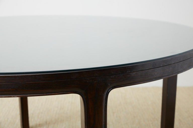 American McGuire Round Cerused Oak Dining or Centre Table For Sale