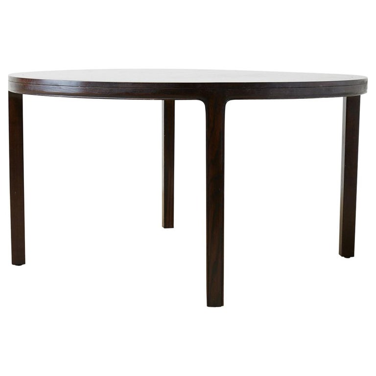McGuire Round Cerused Oak Dining or Centre Table For Sale
