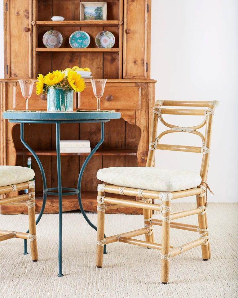 Dining Chairs On Sale: McGuire Set Of Six Organic Modern Rattan Dining Chairs For