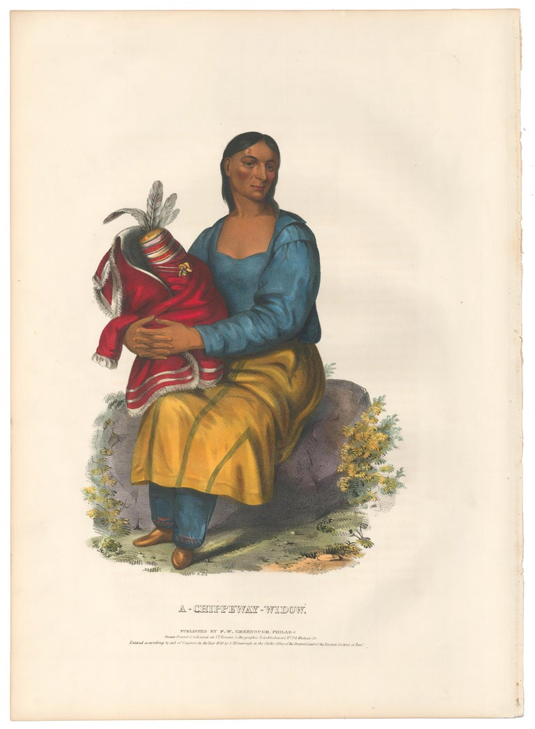 A Chippeway Widow - Print by McKenney & Hall