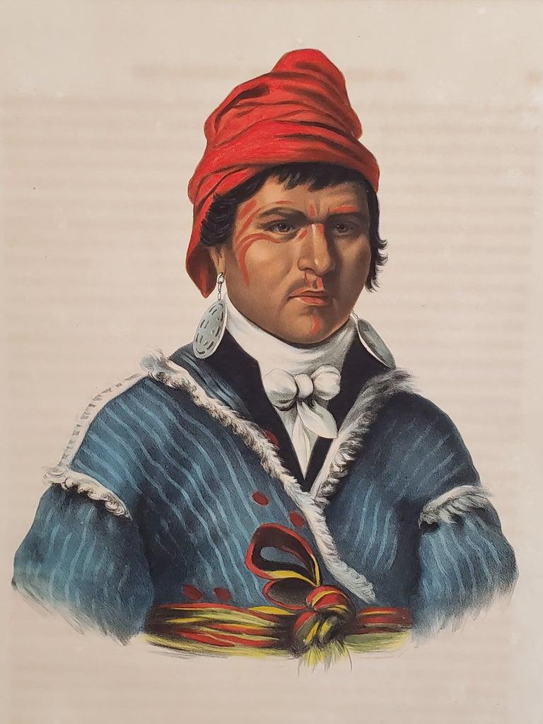 NAH-ET-LUC-HOPIE a Lithograph Portrait by McKenney & Hall For Sale 3