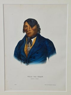 "Original Hand Colored McKenney & Hall Engraving ""Waa-Pa-Shaw, Sioux Chief"""