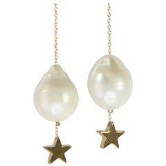 Mckenzie Liautaud Supearlstar Earrings with Freshwater Pearls and 14 Karat Gold