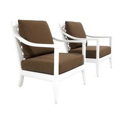 Pair of duVal Club Chairs, Outdoor Garden Furniture by McKinnon and Harris
