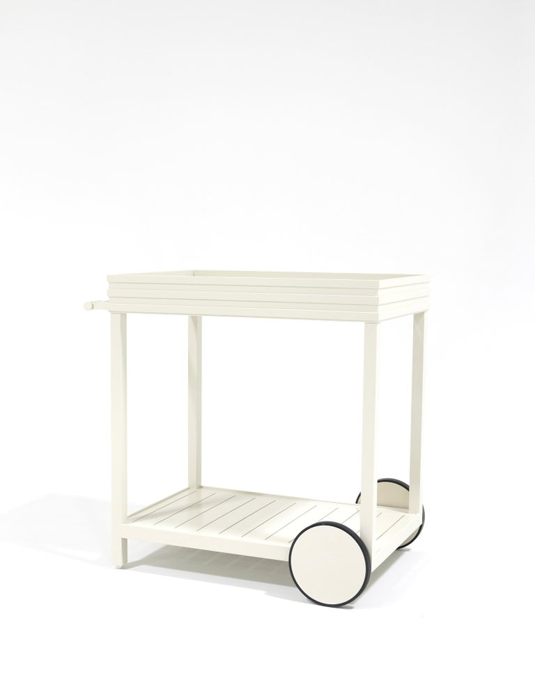 Powder-Coated Perrow Drinks Cart, Outdoor Garden Furniture by McKinnon and Harris