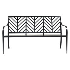 Virginia Bench Herringbone Back, Outdoor Garden Furniture by McKinnon and Harris