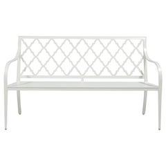Virginia Bench Andalusian Back, Outdoor Garden Furniture by McKinnon and Harris