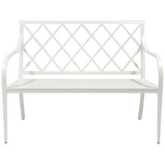 Virginia Bench with Otey Back, Outdoor Garden Furniture by McKinnon and Harris