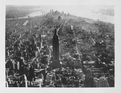 Aerial Shot on New York, Black and White Photography
