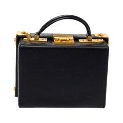 MCM Black Leather Berlin Box Bag