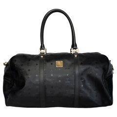 MCM Black Nylon Duffel Bag