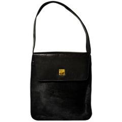 MCM Black Pony Calfskin Bag