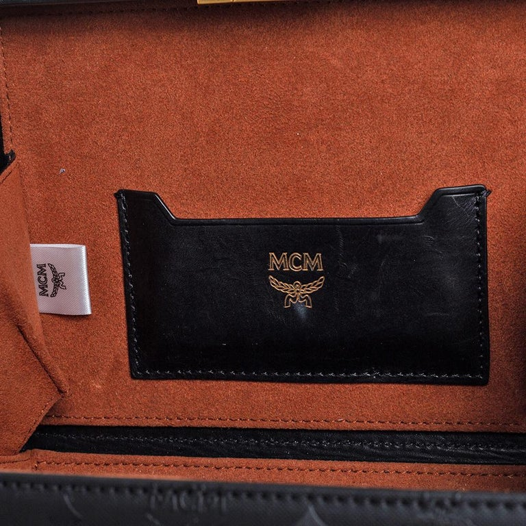 MCM Black Visetos Coated Canvas and Leather Berlin Box Bag 6