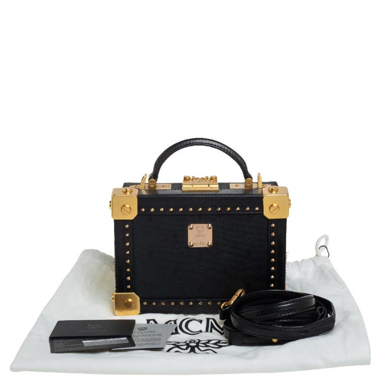 MCM Black Visetos Coated Canvas and Leather Berlin Box Bag 7