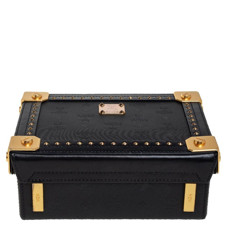 MCM Black Visetos Coated Canvas and Leather Berlin Box Bag 1