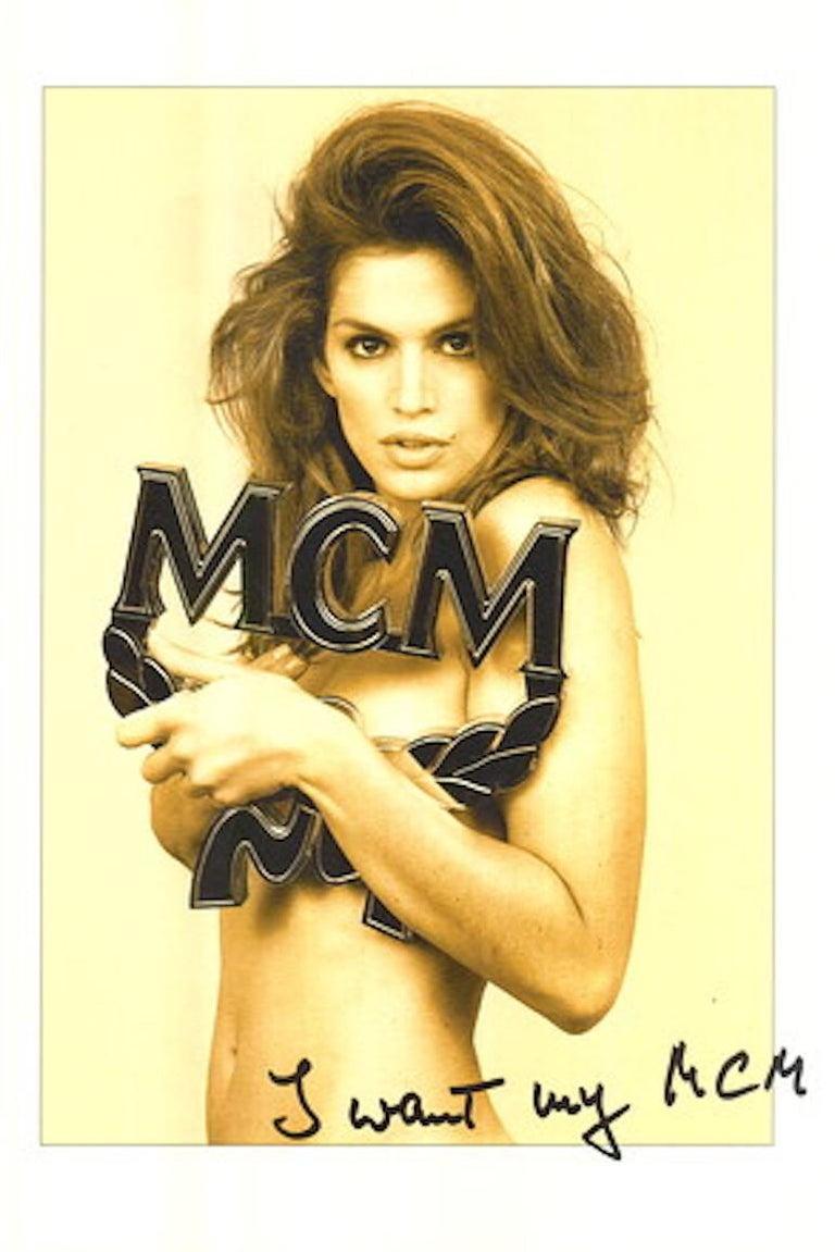 Mcm Black Visetos Monogram Belt With Gold Plated Logo