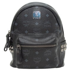 MCM Black Visetos Stark Backpack Bag