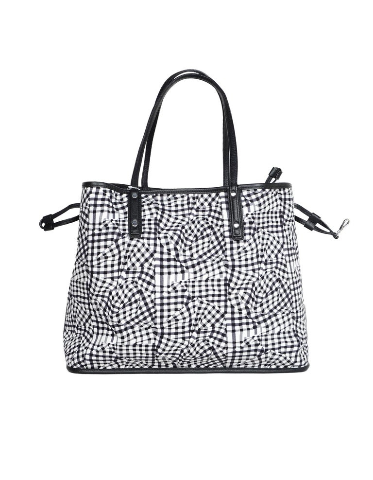 a2f33d48a59d MCM Black White Monogram Visetos Medium Liz Reversible Shopper Tote Bag In  New Condition For