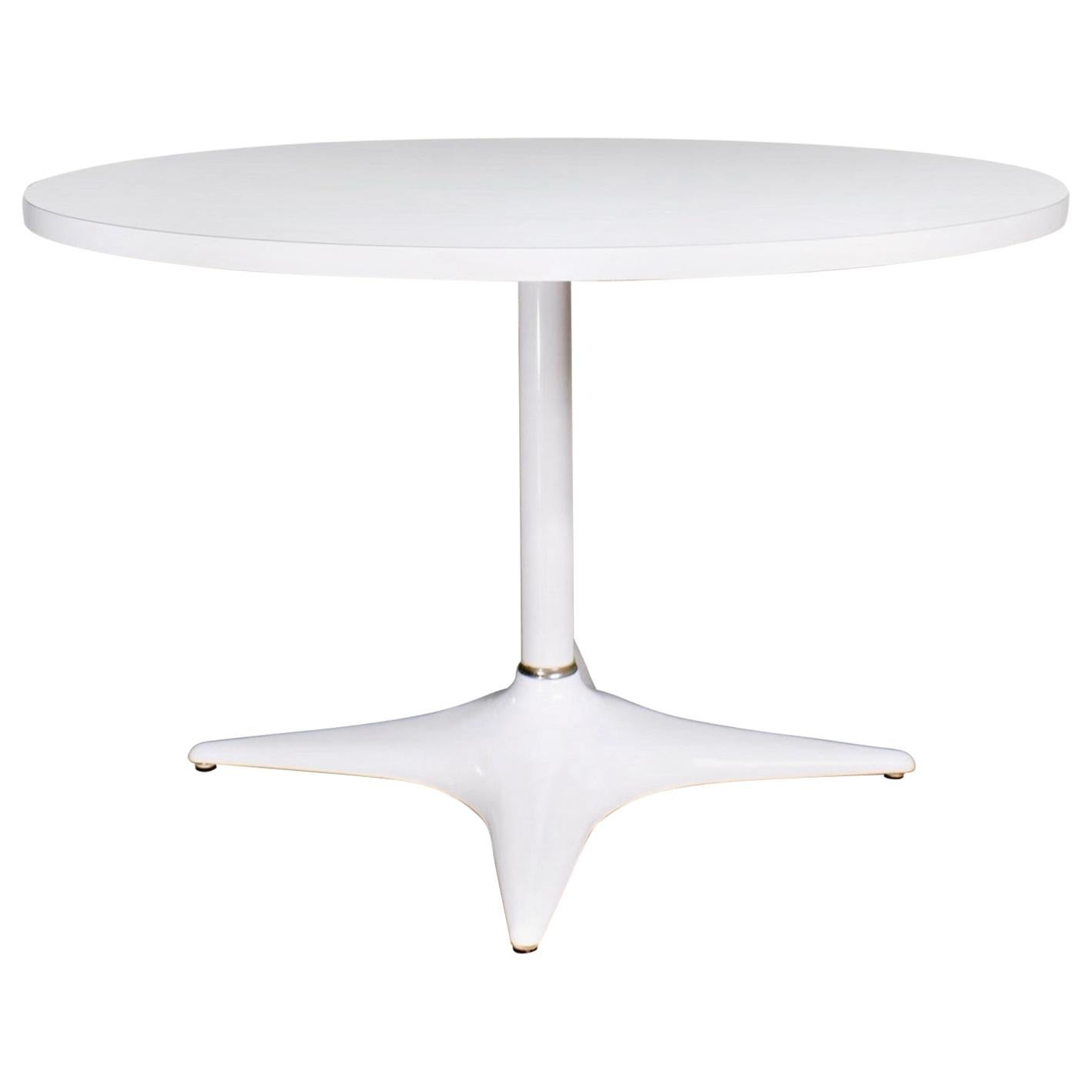 MCM Brody Chicago Round Pedestal Dining Table Enameled Star Base & Laminate Top