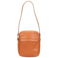 MCM Brown Leather Shoulder Bag