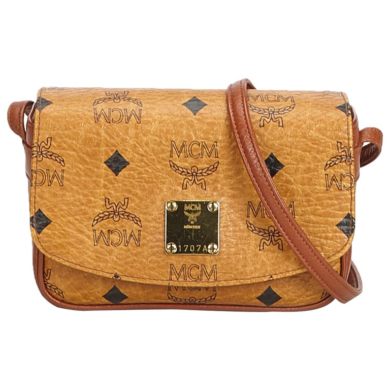 9fb175c40 MCM Brown Light Brown Leather Visetos Crossbody Bag Germany For Sale ...