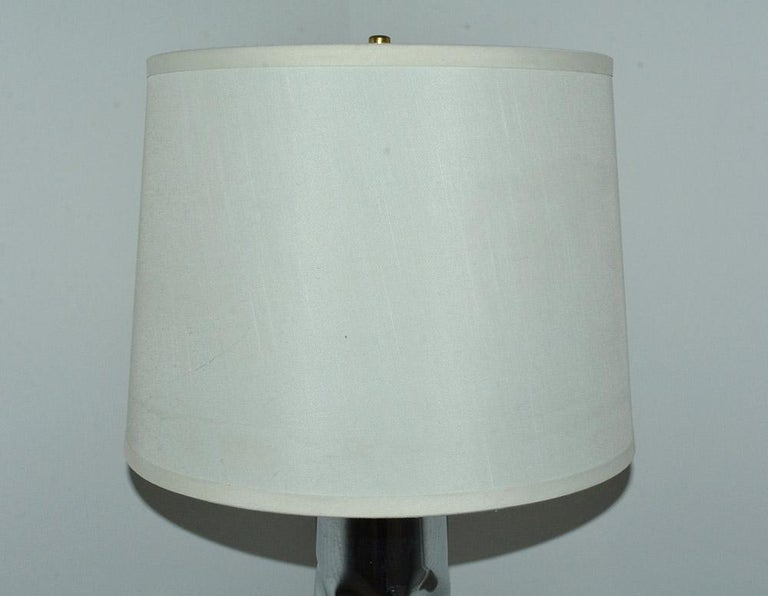 MCM Chrome Lamp with Marble Base For Sale 1