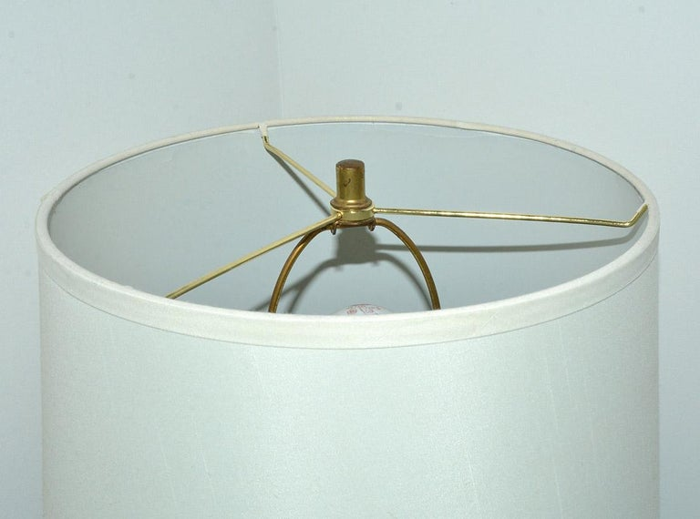 MCM Chrome Lamp with Marble Base For Sale 2