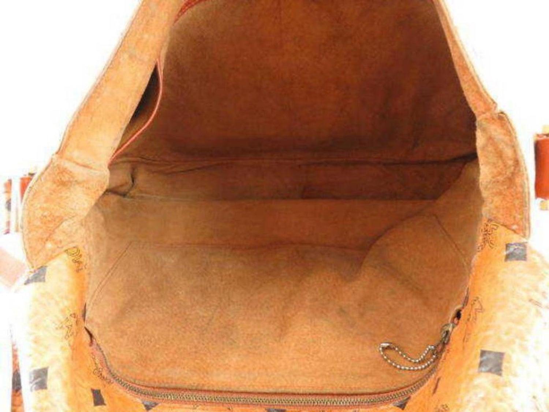 d1025f108f MCM Cognac Monogram Visetos Flap Messenger 230984 Brown Coated Canvas Cross  Body For Sale at 1stdibs