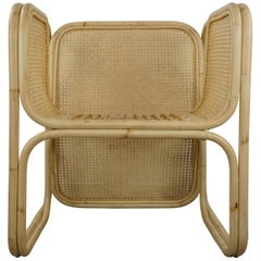 MCM Design Style Rattan and Natural Wicker Chair