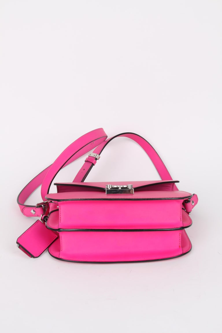 MCM Electric Pink Patricia Calfskin Crossbody Bag For Sale 2