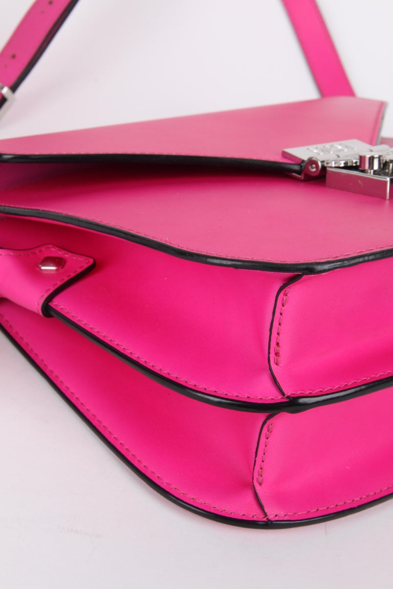 MCM Electric Pink Patricia Calfskin Crossbody Bag For Sale 3