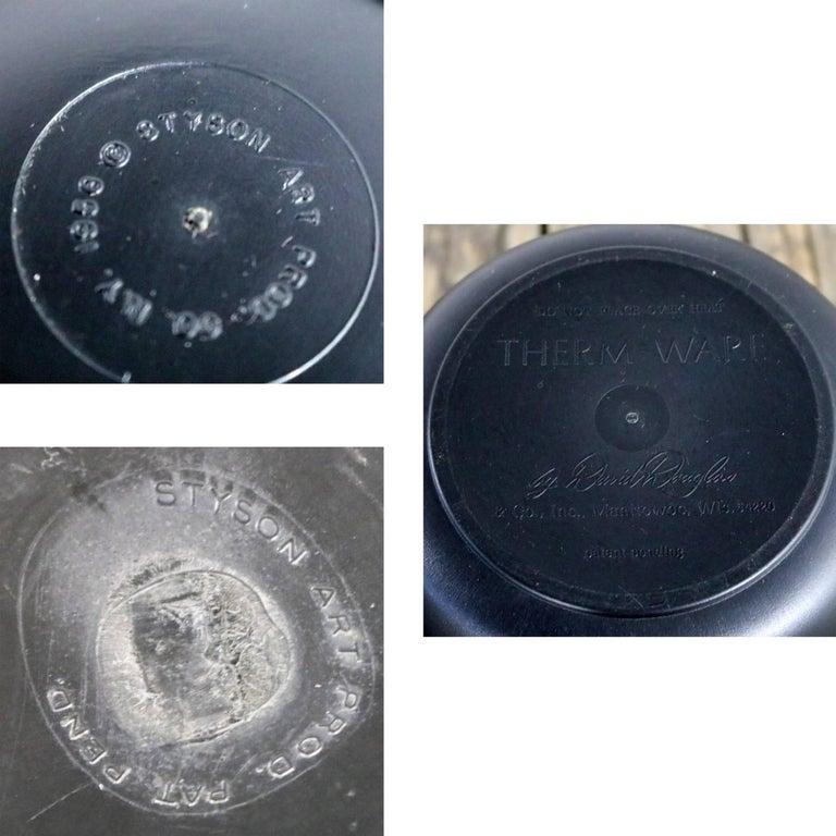 MCM Genie Black Carafe by David Douglas & Black Plastic Salad Set by Styson Art For Sale 5
