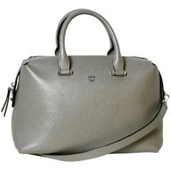 MCM Grey Leather Medium Ella Bowler Boston Bag rt. $695