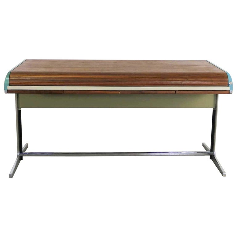 george nelson MCM Herman Miller Action Office I Roll Top Desk By George Nelson Robert Propst