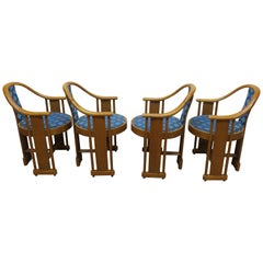 MCM Italian Bent Wood Round Back Chairs Colber & Trocadero
